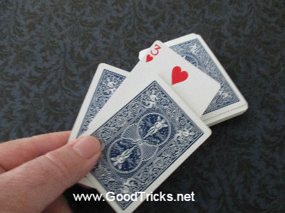 Card trick Ace Shake picture