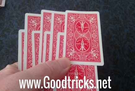 Cards are shown in outjogged position.