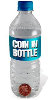 Coin in bottle image.