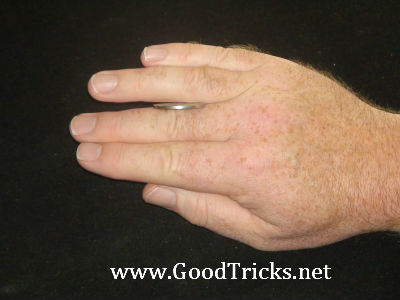 These actions are repeated with second and third finger.