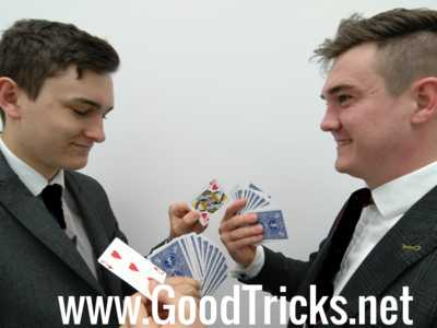Spectators swap card from each others pile and shuffle into pile.
