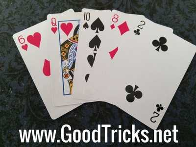 Image showing playing cards with rounded edges.