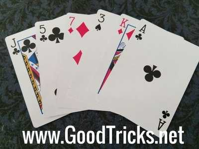 Image showing playing cards with flat edges.