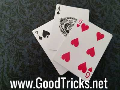 Two halves of deck are seperated by Ace of Spades