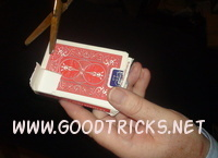Magic lesson image showing preparation of card packet.