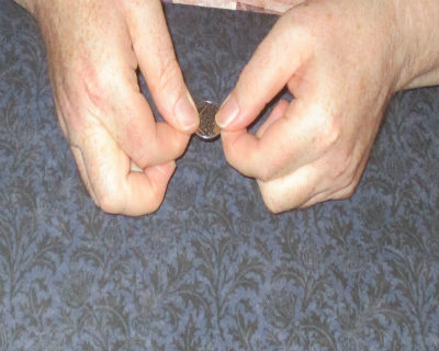 Coin appears to bend like rubber in your hand.