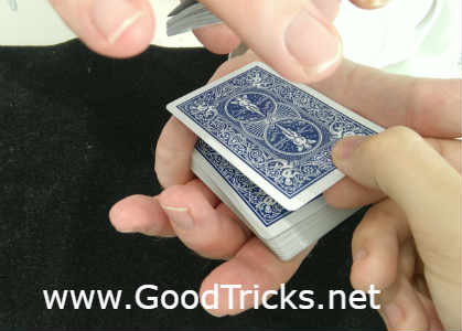 Spectator places card back on top of pinky break.